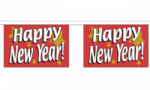 Happy New Year Bunting, rectangular horizontal, 9 metre